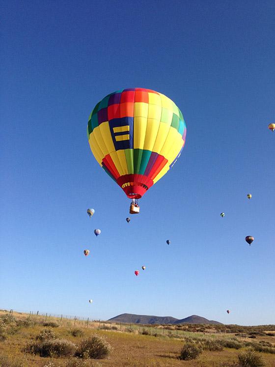 Ballon-in-de-lucht