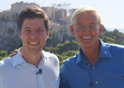 Tv opnamen in Athene