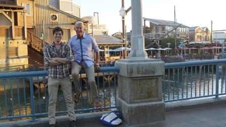 Met Robby Schuller in Disneyland