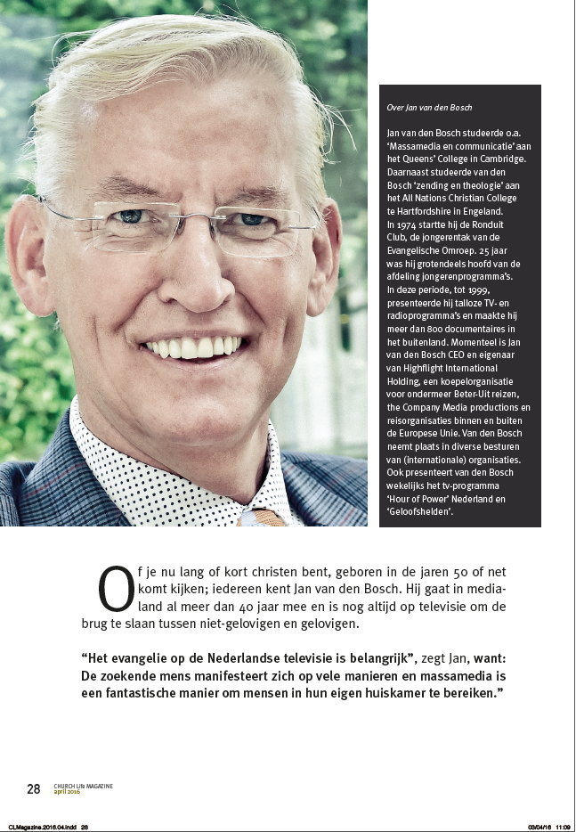 Jan van den Bosch artikel begin