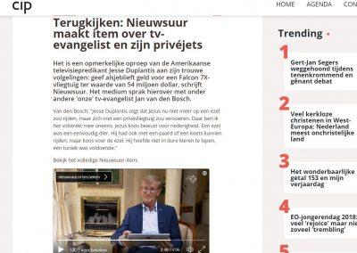 Interview in Nieuwsuur over de 'vliegende' dominee