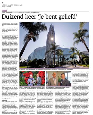 Nederlands Dagblad – Duizend keer 'Je bent geliefd'